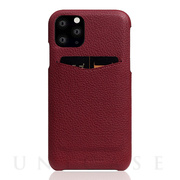 【iPhone11 Pro ケース】Full Grain Leather Back Case (Burgundy Rose)