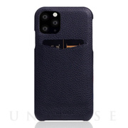 【iPhone11 Pro ケース】Full Grain Leather Back Case (Black Blue)
