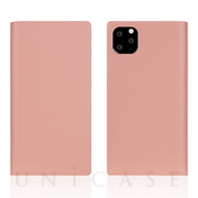【iPhone11 Pro ケース】Calf Skin Leather Diary (Baby Pink)