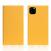 【iPhone11 Pro ケース】Calf Skin Leather Diary (Yellow)