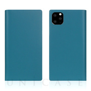 【iPhone11 Pro ケース】Calf Skin Leather Diary (Blue)