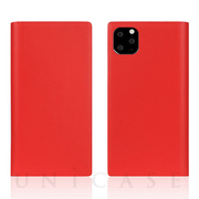 【iPhone11 Pro ケース】Calf Skin Leather Diary (Red)