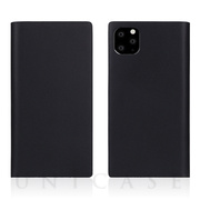 【iPhone11 Pro ケース】Calf Skin Leather Diary (Black)