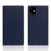 【iPhone11 ケース】Carbon Leather Case (Navy)
