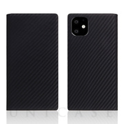 【iPhone11 ケース】Carbon Leather Case (Black)