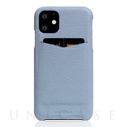 【iPhone11 ケース】Full Grain Leather Back Case (Powder Blue)