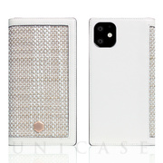 【iPhone11 ケース】Edition Calf Skin Leather Diary (ホワイト)