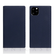 【iPhone11 Pro Max ケース】Carbon Leather Case (Navy)