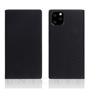 【iPhone11 Pro Max ケース】Carbon Leather Case (Black)