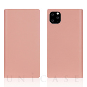 【iPhone11 Pro Max ケース】Calf Skin Leather Diary (Baby Pink)