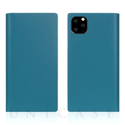 【iPhone11 Pro Max ケース】Calf Skin Leather Diary (Blue)