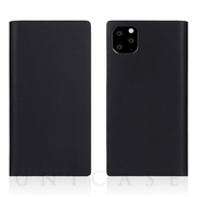 【iPhone11 Pro Max ケース】Calf Skin Leather Diary (Black)