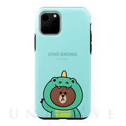 【iPhone11 Pro ケース】DUAL GUARD JUNGLE BROWN (DINO BROWN)