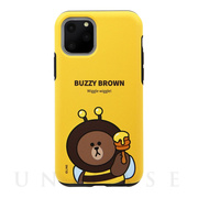 【iPhone11 Pro ケース】DUAL GUARD JUNGLE BROWN (BUZZY BROWN)