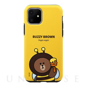 【iPhone11 ケース】DUAL GUARD JUNGLE BROWN (BUZZY BROWN)