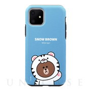 【iPhone11 ケース】DUAL GUARD JUNGLE BROWN (SNOW BROWN)