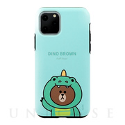 【iPhone11 Pro Max ケース】DUAL GUARD JUNGLE BROWN (DINO BROWN)