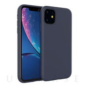【iPhone11 ケース】SILCONE ALPHA CASE (ネイビー)