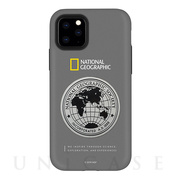 【iPhone11 Pro ケース】Global Seal Metal-Deco Case (グレー)