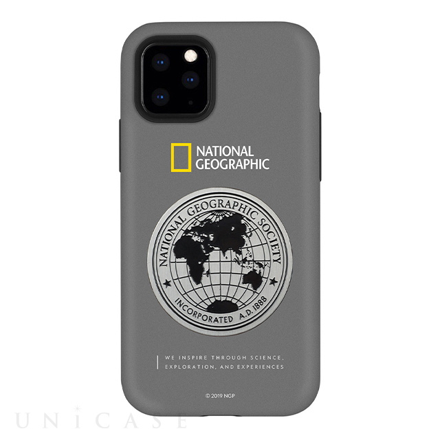 【iPhone11 Pro Max ケース】Global Seal Metal-Deco Case (グレー)