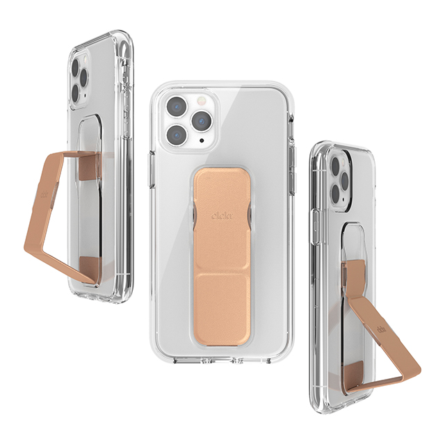 【iPhone11 Pro ケース】clckr CLEAR GRIPCASE FOUNDATION (CLEAR/ROSE GOLD)サブ画像