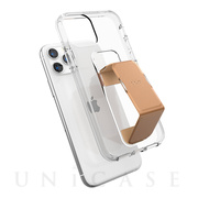 【iPhone11 Pro ケース】CLEAR GRIPCASE FOUNDATION (CLEAR/ROSE GOLD)