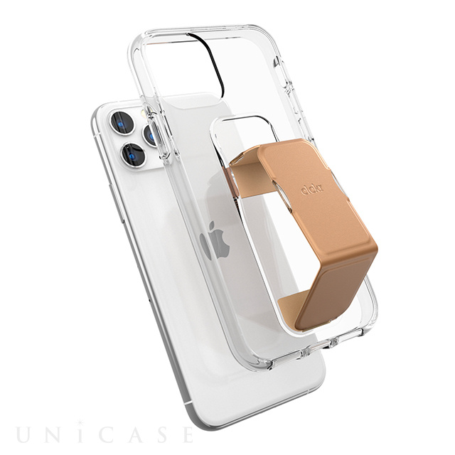 【iPhone11 Pro ケース】clckr CLEAR GRIPCASE FOUNDATION (CLEAR/ROSE GOLD)