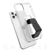 【iPhone11 Pro Max ケース】CLEAR GRIPCASE FOUNDATION (CLEAR/BLACK)