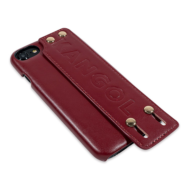 【iPhone8/7/6s/6 ケース】KANGOL HANDLE (RED)
