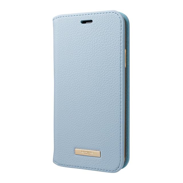 "【iPhoneXS/X ケース】""Shrink"" PU Leather Book Case (Light Blue)goods_nameサブ画像"