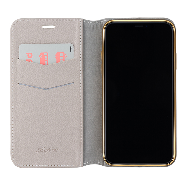 "【iPhoneXS/X ケース】""Shrink"" PU Leather Book Case (Greige)サブ画像"