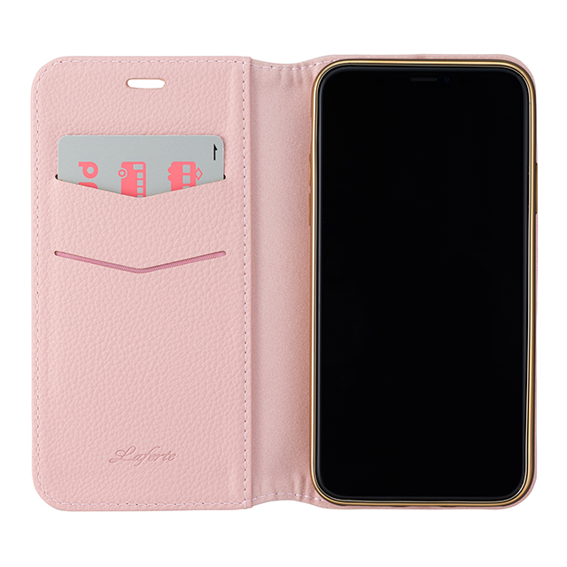 "【iPhoneXS/X ケース】""Shrink"" PU Leather Book Case (Pink)サブ画像"
