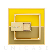 """MEDIARING"" for Smartphone Square (Yellow × Taupe)"