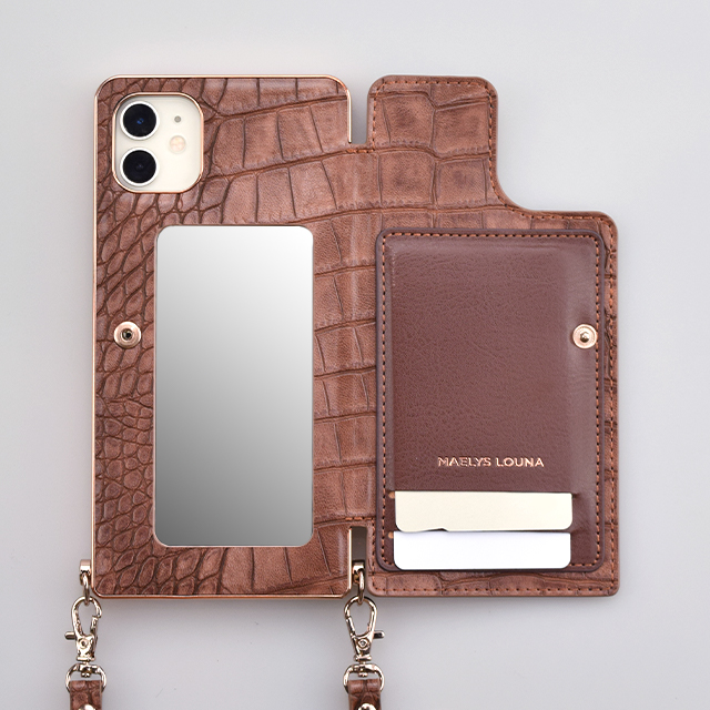 【iPhone11/XR ケース】Cross Body Case Animal Series for iPhone11(crocodile)