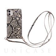 【iPhone11/XR ケース】Cross Body Case Animal Series for iPhone11(python)