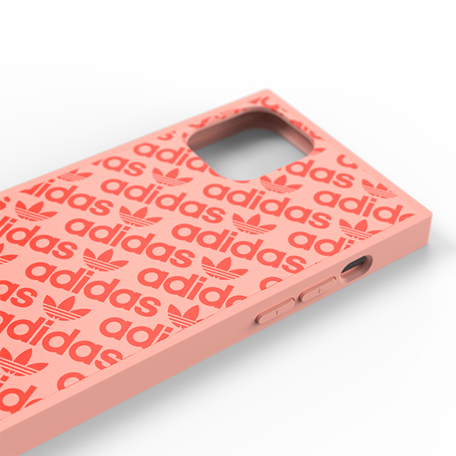 【iPhone11 Pro ケース】SQUARE CASE (Ash pearl/Signal coral)