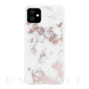 【iPhone11 ケース】WHITE MARBLE (ROSE GOLD WHITE MARBLE)