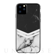 【iPhone11 Pro ケース】BLACK MARBLE (LARA CHEVRON)