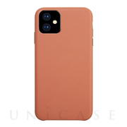 【iPhone11 ケース】Macaron VEGAN LEATHER (LIVING CORAL)