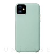 【iPhone11 ケース】Macaron VEGAN LEATHER (MINT)