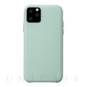【iPhone11 Pro ケース】Macaron VEGAN LEATHER (MINT)