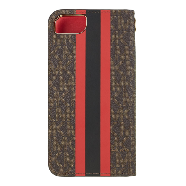 【iPhoneSE(第2世代)/8/7 ケース】Folio Case Red Stripe with Charmサブ画像