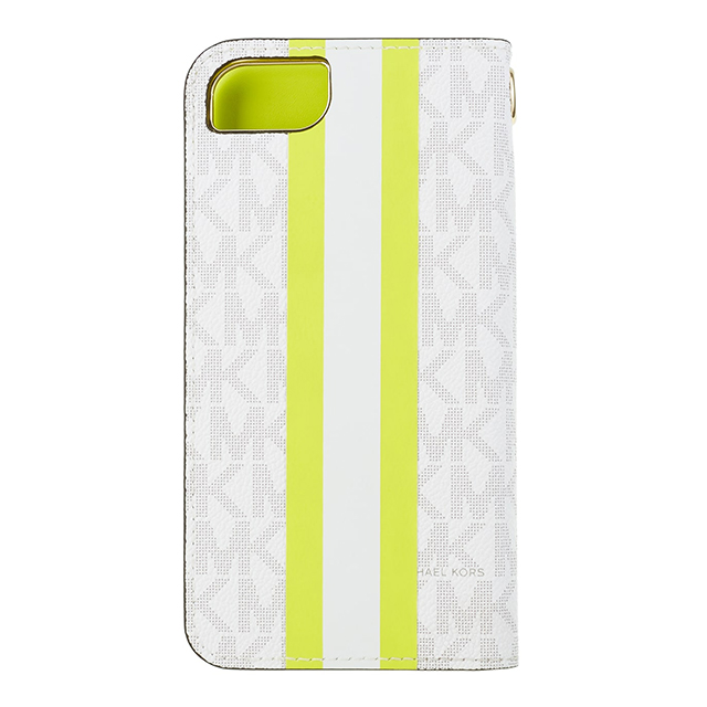 【iPhoneSE(第2世代)/8/7 ケース】Folio Case Lime Stripe with Charmサブ画像