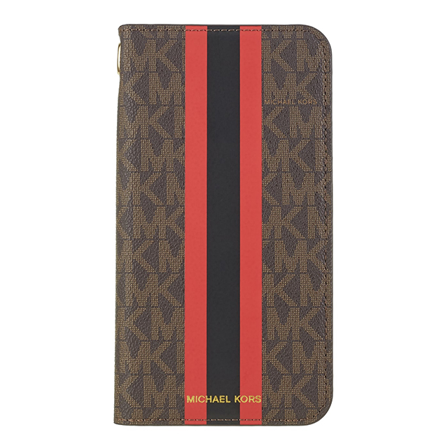 【iPhone11 Pro Max ケース】Folio Case Red Stripe with Charmサブ画像