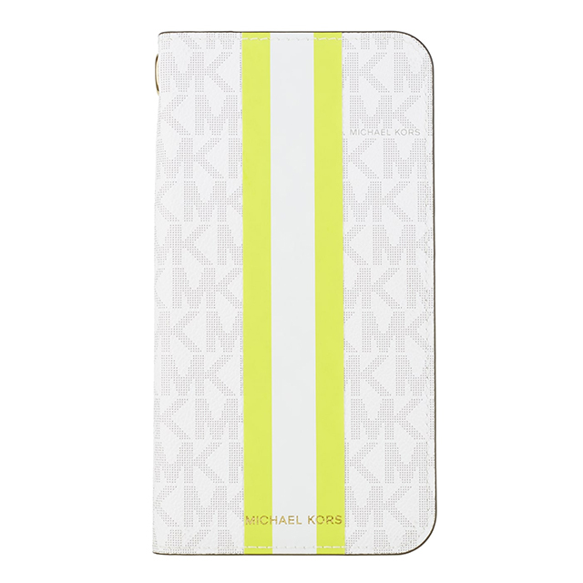 【iPhone11 Pro Max ケース】Folio Case Lime Stripe with Charm