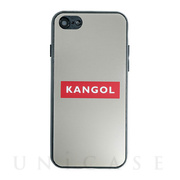 【iPhone8/7 ケース】KANGOL MIRROR BOX LOGO (RED)