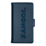【iPhone11/XR ケース】KANGOL EMBROIDERY LOGO (NVY)