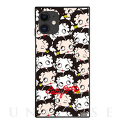 【iPhone11/XR ケース】Betty Boop スクエア型 ガラスケース (PAST AND PRESENT)