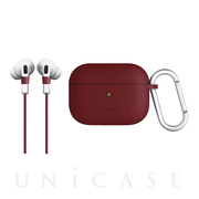 【AirPods Pro ケース】VENCER AirPods Pro シリコン ハング ケース - BURGUNDY (MAROON)