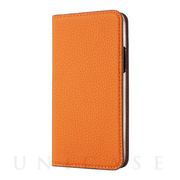 【iPhone11 ケース】German Shrunken Calf Folio Case (Orange×Taupe)